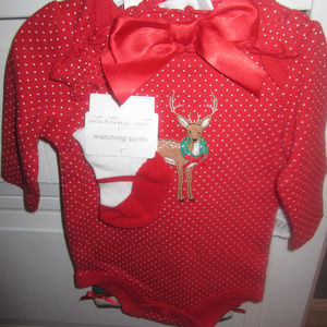 NWT 4 PC. CHRISTMAS REINDEER OUTFIT